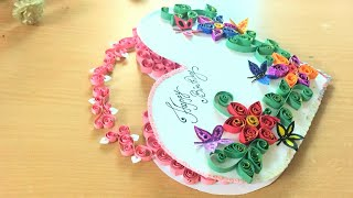 Heart Quilling Greeting Card - Birthday Card Latest Design Handmade | DIY Unique Birthday Card Idea