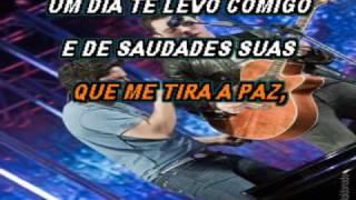 Jorge e Mateus Um Dia Te Levo Comigo Sol karaoke CDG