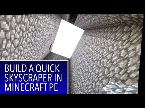 Minecraft PE: Make a quick skyscraper with lava