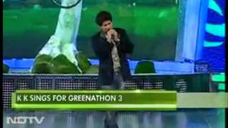 KK singing Pyaar Ke Pal at NDTV Greenathon 3.mp4