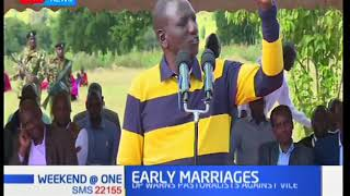 DP Ruto warns pastoralists against the vice of early marriages