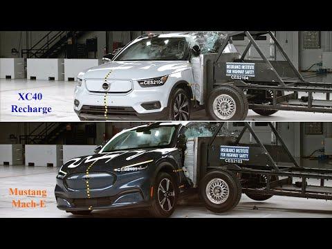 衝突テスト 頑丈で有名なVolvo XC40とフォード マスタング March-E の衝撃テスト対決