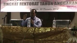 preview picture of video 'Pembukaan RAKER Penyusunan Dokumen Perencanaan Tingkat Rektorat TA 2016'