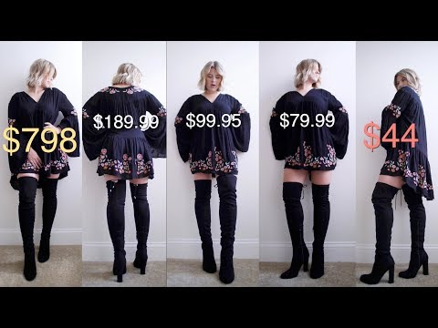 Comparing CHEAP VS EXPENSIVE Boots: STUART WEITZMAN vs DUPES | Milabu