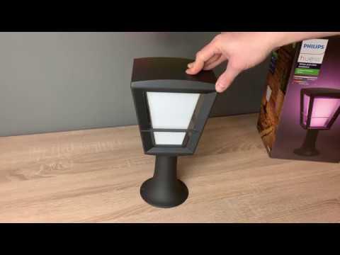 Philips Hue Econic Sockelleuchte in Laternenform ausprobiert