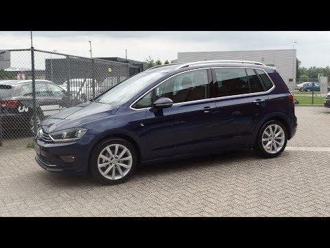 Volkswagen Sportsvan Highline 2017 - 2018 Atlantic Blue Metallic - wegklapbare trekhaak