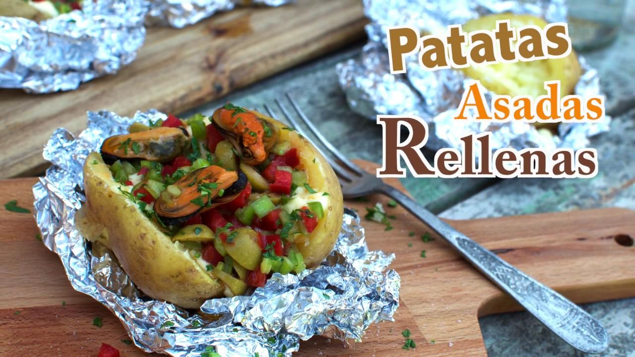 Patatas al Horno | Cómo hacer Patatas Asadas Rellenas ideales para un día  de Campo