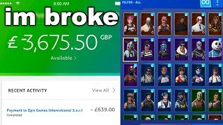 I Bought EVERY Skin In Fortnite...