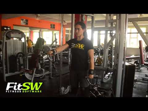 Alternating Cable Front Raise: Shoulders, Delt Exercise Demo How-to