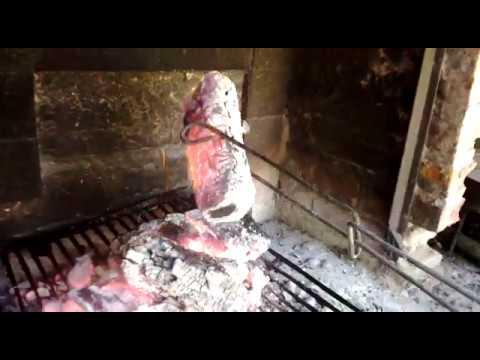 Pinza para los carbones, brasas, herramienta para el asado