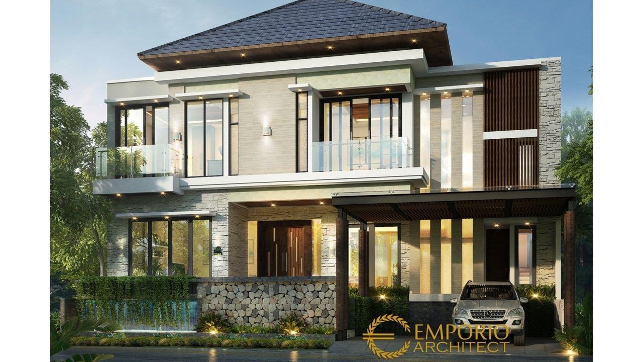 Video 3D Desain Rumah Modern 2 Lantai Ibu Desi di Tangerang