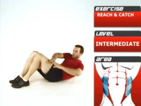 Reach and Catch Exercise for Oblique Muscles