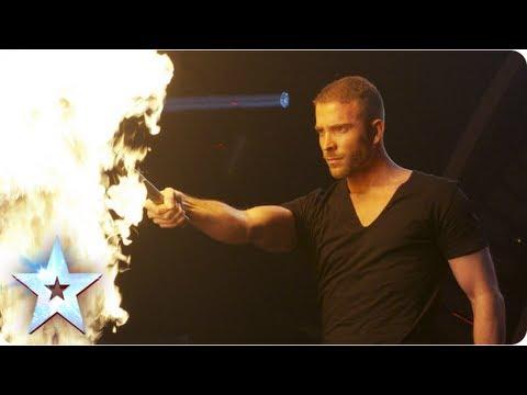 James More's firey magic act! | Semi-Final 4 | Britain's Got Talent 2013