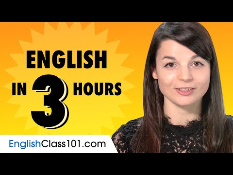 Learn English in 3 Hours: Basics of English Speaking for Beginners