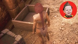Conan Exiles (2018 PS4): How to Use a Planter and Compost Heap