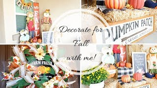 FALL PORCH DECOR  TOUR + DECORATE WITH ME!!
