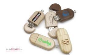 Clé USB en bois publicitaire personnalisable