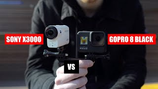 GoPro 8 Black Vs Sony X3000! Сравнение!