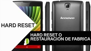 Lenovo A369i Hard Reset - YouTube