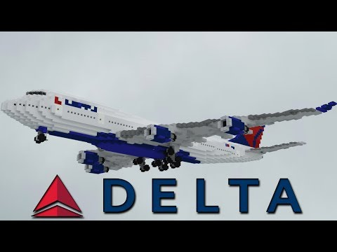 Delta Airlines Boeing 747 451 1 5 1 Minecraft Project