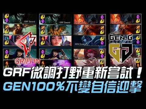 GRF vs GEN 不服再戰!GRF微調打野重新嘗試 GEN100%不變自信迎擊!Game3