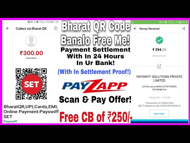 Bharat QR Code Banalo Free Me From Payswiff SET & Apply Free