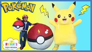 Download Youtube: GIANT EGG POKEMON GO Surprise Toys Opening Huge PokeBall Egg Catch Pikachu In Real Life ToysReview