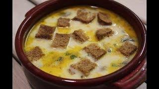Сырный супчик, суп с плавленным сыром, рыбный бульон