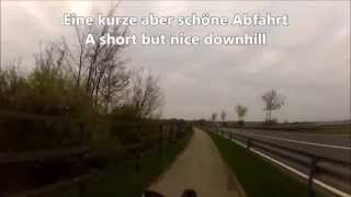 preview picture of video 'Heimrunde mit dem Liegerad / Daily trip with the recumbent bike - Trailer'