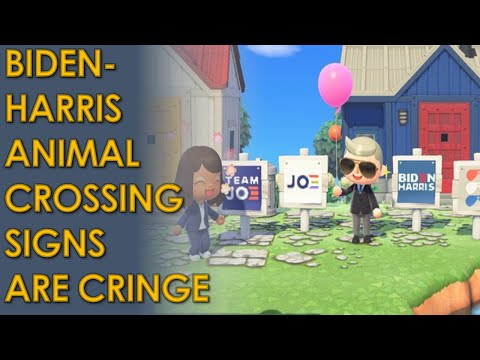 Joe Biden Animal Crossing Lawn Signs PROVES he doesn't understand young voters