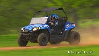 Polaris RZR 170 Crash and Rollover | Gabe and Garrett