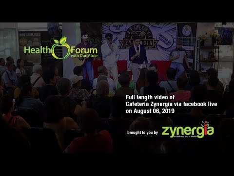 6 August 2019 | Cafeteria Zynergia via Facebook Live