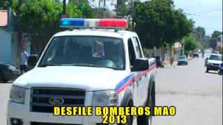 preview picture of video 'DESFILE BOMBEROS MAO 2013.'