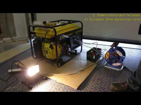 Работа генератора GG7000E+ATS