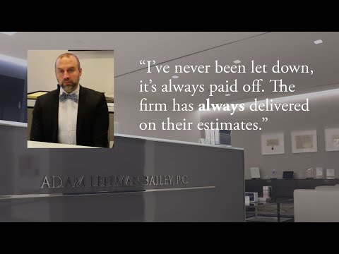 """""""I've never been let down, it's always paid off. The firm has always delivered on their estimates."""" testimonial video thumbnail"""