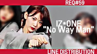 How would IZ*ONE sing No Way Man (AKB48) | Line Distribution
