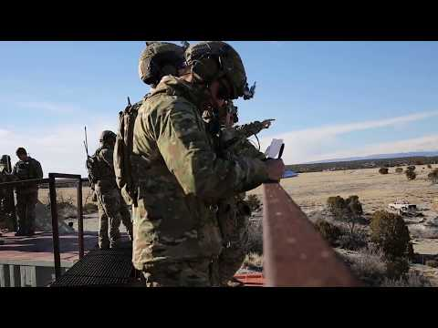 10th Special Forces Group (Airborne) JTAC Conducts Live Fire Training
