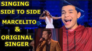 """MARCELITO AND ORIGINAL SINGER OF """"NEVER ENOUGH"""" SINGING SIDE TO SIDE 