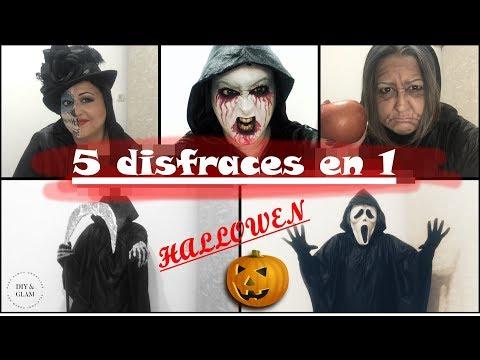 Halloween 5 disfraces en 1 facilísimo