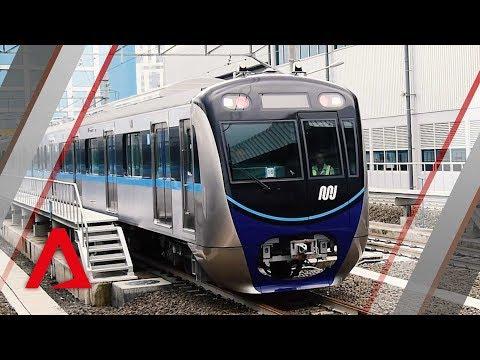Jakarta's first MRT trains to start running in March