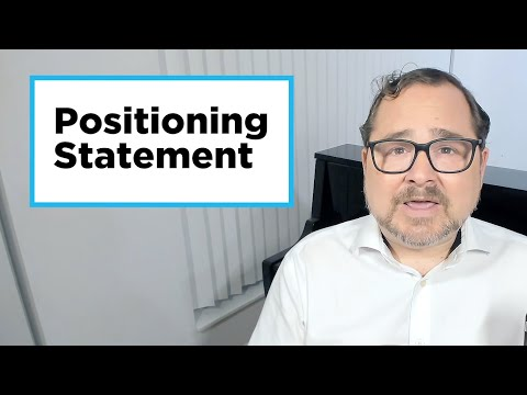 How To Create A Positioning Statement 📚📣✍🏽