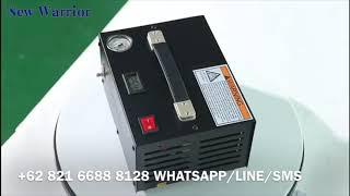 New Warrior 350W 220V & 12V Pompa Kompressor 4500 PSI Gejluk PCP Compressor