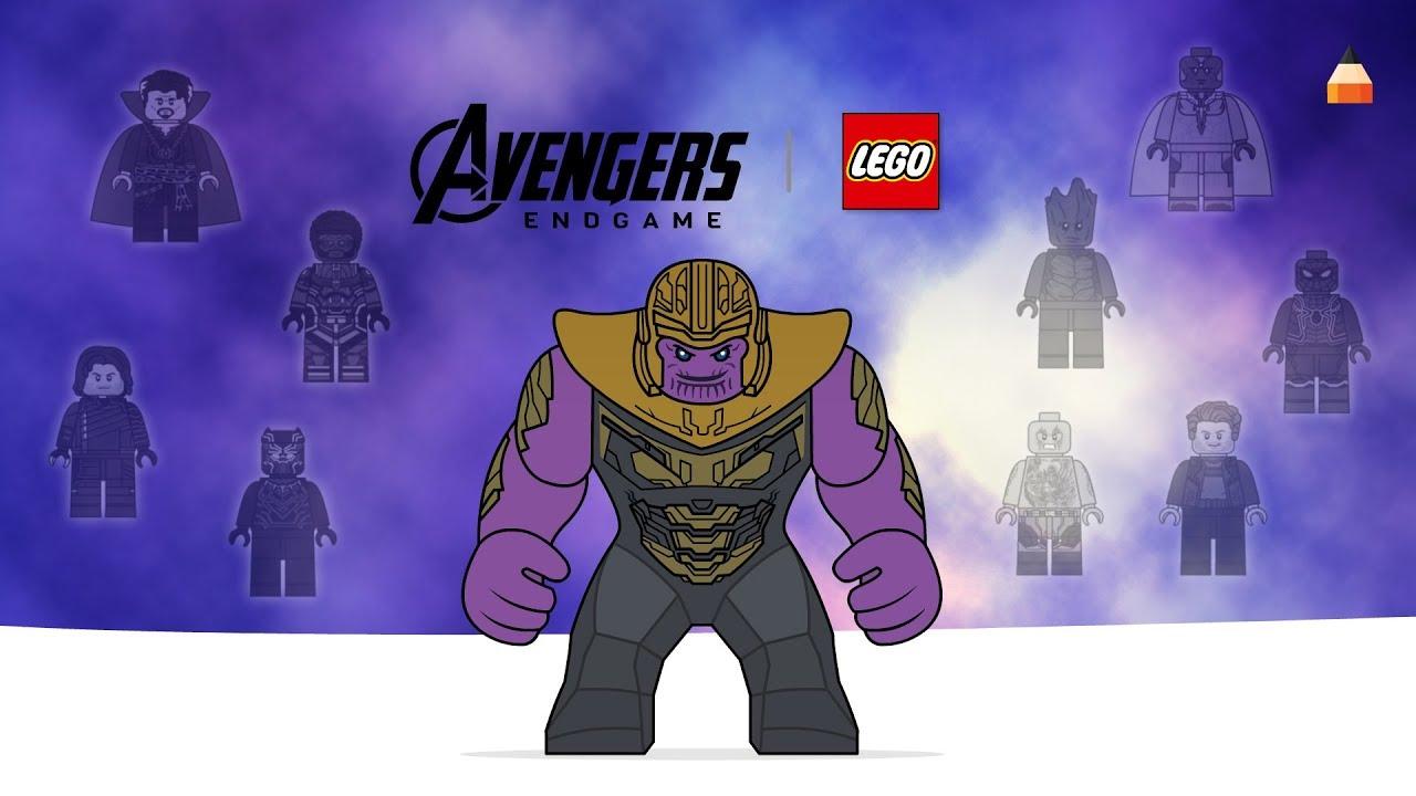 Avengers Endgame Drawing Lego Thanos