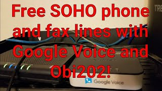 Free small business phone and fax service with Google Voice and obi202