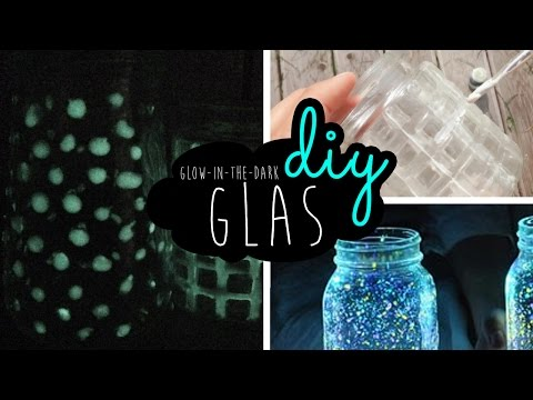 DIY Neon Glas Glow-in-the-Dark Glass