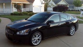 2009 Nissan Maxima Review, Walk Around, Start Up & Rev, Test Drive