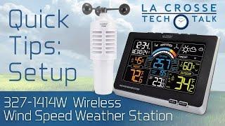 327-1414W Wind Speed Weather Station Setup