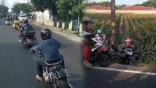 Wanita Pengendara Sepeda Motor Jatuh ke Sawah, Diduga Disenggol Pengemudi Moge
