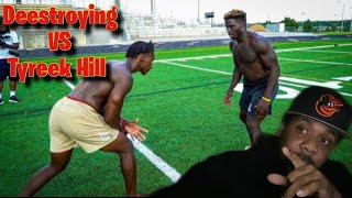 1ON1'S AGAINST TYREEK HILL! (FASTEST PLAYER IN THE NFL) FT. SAMMY WATKINS
