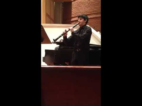 "Saint-Saen's ""Clarinet Sonata"" movements 1 and 2.